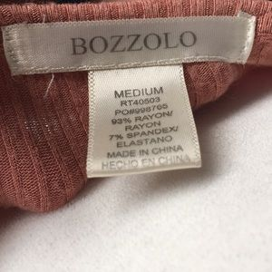 Bozzolo Tops - Bozzolo Dusty Rose Scoop Neck Crop Top